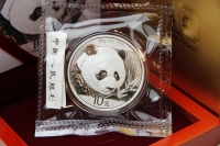 30g Panda 2018 in FOLIE mit ZETTEL inkl. BOX