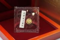 1g Goldpanda in der ORIGINALFOLIE inkl. Zettel 2019 CHINA