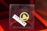 3g Goldpanda in der ORIGINALFOLIE inkl. Zettel 2019 CHINA