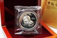 1 oz Panda Silber 1984 in der ORIGINALFOLIE inkl. BOX
