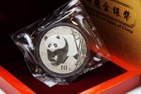 1 oz Panda Silber D in der Folie 2001
