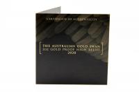1 oz Schwan High Relief PP Gold 2020 AUSTRALIEN