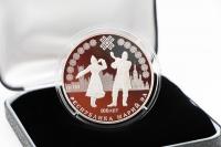 3 Rubel 100. Jahrestag der Republik Mari El Silber PP 2020