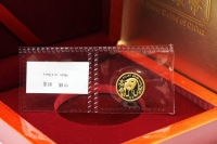 1/20 oz Goldpanda Original-Folie 1986 CHINA