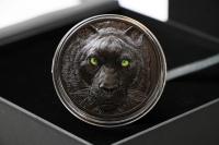 2 oz Balck Panther Jäger bei Nacht Silber 2020 PALAU