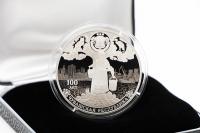 1 oz - 3 Rubel 100.  Jahre Tschuwaschische Republik Silber PP 2020