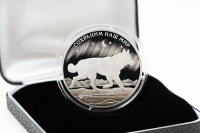 1 oz - 3 Rubel Tundrawolf Silber PP 2020