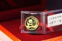 1/10 oz Goldpanda in der Original-Folie 1994 CHINA